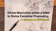 Divine Masculine writes a Love Letter to Divine Feminine- Loving Our Differences Channeling Session - YouTube Writing A Love Letter, Love Letters, Spiritual Thoughts, Divine Feminine, Our Love, Channel, Spirituality, Lettering, Youtube