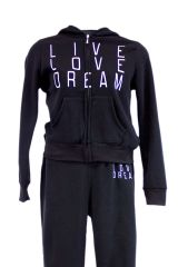 Plus Size Live Love Dream Zip Up Hoodie Fleece Sweatshirt Jacket