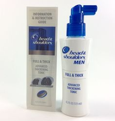 Head & Shoulders Men Full & Thick Advanced Thickening Hair Tonic 4.2 fl.oz NEW #HeadShoulders #Hairtonic #hairthickener