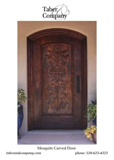 Hancdarved Mesquite Wood Door HAndcarved Mexican Motiff Scottsdale Residence  sc 1 st  Pinterest & Meadow Wood Custom Doors   Doors   Pinterest   Doors Woods and ... pezcame.com