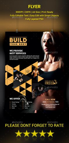 Sports  Fitness Flyer  Flyers Fitness And Sports