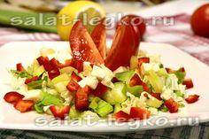 Салат с брынзой, помидорами и сельдереем