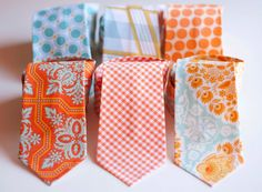 The Beau- men's citrine collection neckties - $24.00, via Etsy.