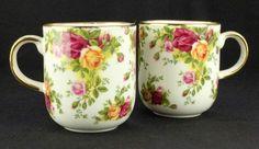 2 Royal Albert Old Country Roses Classic III Mugs VGC