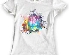 French Bulldog T-Shirts Watercolor design Ladies Gift Idea 100% Cotton Brand…