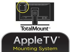 AppleTV TotalMount-idea for cord or wire management that can move with unit