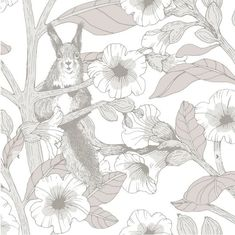 Toivo by Vallila - Grey - Wallpaper : Wallpaper Direct Botanical Wallpaper, Grey Wallpaper, Wallpaper Panels, Kids Wallpaper, Wallpaper Roll, Grey Pattern Wallpaper, Beautiful Wallpaper, Animal Wallpaper, Buy Wallpaper Online