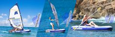 Aquaglide - Multisport: Multi-use inflatable sailboat compact enough to go anywhere.