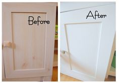 Painting a laminate cabinet. She uses an oil based primer and then latex paint. KH