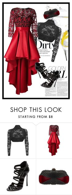"""""""Forever red"""" by scmorenozamora ❤ liked on Polyvore featuring Christian Pellizzari, Casadei, Christian Louboutin and Murphy"""