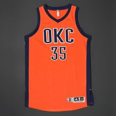 1162c758b Kevin Durant - Oklahoma City Thunder - Game-Worn Road Alternate Jersey -  2015-16 Season (Worn in 2 Games)