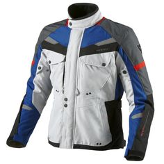Rev'It Safari Motorcycle Jacket  Description: The Rev It Safari Touring Motorbike Jackets are packed       with features…              PROTECTION FEATURES:               OUTER SHELL                      Polyester 600D – Polyester fabric is a mainstay of REV'IT!         garments, providing the stylish silhouette...  http://bikesdirect.org.uk/revit-safari-motorcycle-jacket-15/