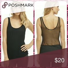 Mesh Athletic Tank Top! Great quality black mesh tank top from Fabletics! Front is mesh with fabric lining and rear is just mesh. It is very soft and flowy. Order this soon if you like it, it's so cute and soft I might keep it and wear it! Make me an offer! Fabletics Tops Tank Tops