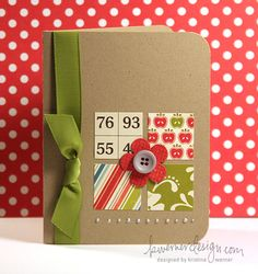 Fab card. Would be a great journal or mini calendar cover, too, esp if the squares were seasonal.