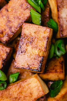 With only 5 ingredients, this easy marinated tofu is tasty & easy! It's a go-to recipe for tofu that can be eaten over rice, in salads, or on sandwiches. A simple way to cook tofu that you'll want to make again & again! This recipe is vegan and can be made gluten free. This is a tasty recipe that will become a family favorite on busy nights. Pair it with your favorite sauce and white rice for a simple weeknight dinner that's better than takeout! Vegetarian Main Dishes, Vegetarian Lunch, Vegetarian Recipes, Gluten Free Recipes For Dinner, Healthy Dinner Recipes, Simple Recipes, Easy Healthy Dinners, Vegan Dinners, Ways To Cook Tofu