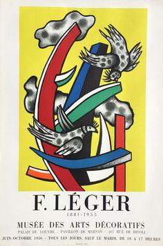 Fernand Léger, Jean Lurçat e.a. - 5 tentoonstellingsaffiches - 1955-1958 - W.B.