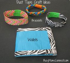Duct tape bracelets, wallets, and clutches.  I have heard from a Compassion representative that duct tape crafts like this one count as paper and will go through to your sponsor child (as long as they are less than 1/4 inch thick and 8.5x11 inches around)!  I don't know how accurate that claim is, but try one and see what happens!