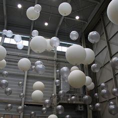 XL helium ballonnen wit & zilver