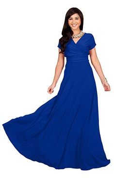 a0b94f71585f6 KOH KOH Petite Womens Long Cap Short Sleeve V-neck Flowy Cocktail Slimming  Summer Sexy Casual Formal Sun Sundress Work Cute Gown Gowns Maxi Dress  Dresses, ...