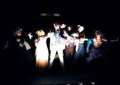 Eric Percival (Basil Hallward), Erin Soler (Duchess of Harley), Francesco Andolfi (Dorian Gray), Maureen O'Boyle (Duchess of Harley), David Stallings (Lord Henry) and Christopher Leidenfrost (Dr. Alan Campbell); photo by Robin Madel