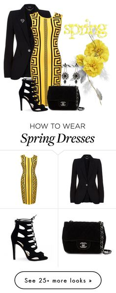 """""""SPRING FASHION"""" by arjanadesign on Polyvore featuring Alexander McQueen, WithChic, Chanel, Ermanno Scervino, SpringStyle and spring2016"""