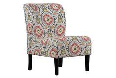 Honnally Floral Accent Chair