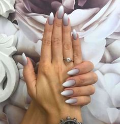 Nail models 2018 latest designs for nail art nailart nail naildesign nailsw White Almond Nails, Almond Shape Nails, Short Almond Shaped Nails, Fall Almond Nails, Classy Almond Nails, Almond Nail Art, Nails Shape, Nails 2018, Prom Nails