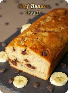 Recette Banana Bread (pépites de chocolat) par Chef Doudou