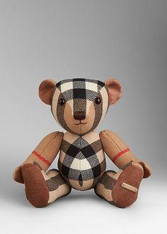Burberry Check Cashmere Teddy Bear.