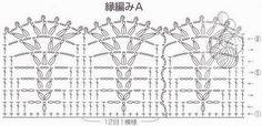Borde a crochet esquema (600×292)                                                                                                                                                     Más