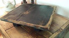 Grungy Black Primitive Table Riser Centerpiece 11-1/4x11-1/4x2-3/4h Home Decor #UniquePrimtiques #RusticPrimitive