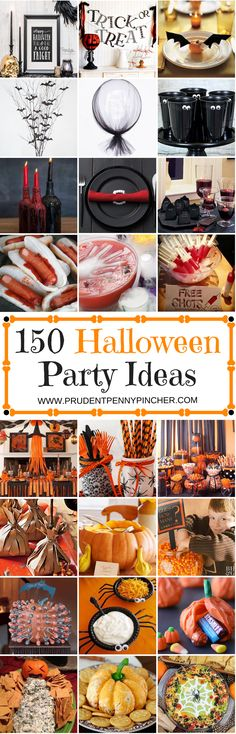 150 Halloween Party Ideas 150 Halloween Party Ideas Throw A Spooktacular Party With These Halloween Party Ideas Which Include Decorations Food Games Centerpieces And Much More 150 Halloween Party Ideas Prudent Penny Pincher Spooky Halloween, Halloween Food For Party, Halloween Birthday, Halloween Party Decor, Holidays Halloween, Halloween Treats, Halloween Foods, Birthday Games, Halloween Games Adults