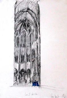 Concert Notre-Dame de Paris - HHugon - eglise paris - Hélène HUGON - Peinture, Dessin, Photo, Kid Project | CROQUIS