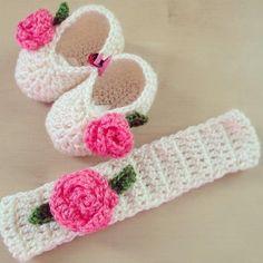 Crochet baby girl set
