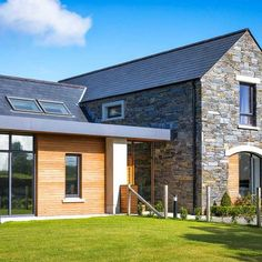 There are some things you can plan for, like choosing finishes in advance, but others are unpredictable. Such as having to fork out to get an electricity connection in a built-up area. Cottage Extension, Roof Extension, Extension Ideas, Pole Barn House Plans, Pole Barn Homes, House Layout Plans, House Layouts, House Designs Ireland, Modern Barn House