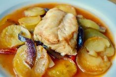 """Greek family recipe for baked fish known as """"plaki"""" Greek Recipes, Desert Recipes, Fish Recipes, Seafood Recipes, Seafood Meals, Greek Cooking, Fun Cooking, Cooking Recipes, Kitchens"""
