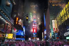 2015 midnight in times square | Fireworks erupt after midnight in Times Square during the New Year's ...
