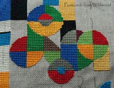 cross stitch work-in-progress Abstract Embroidery, World Map App, Needlepoint Designs, Cross Stitch Designs, Needlework, Stitching, Design Inspiration, Kids Rugs, Make It Yourself