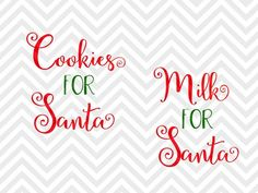 Milk for Santa Cookies for Santa Christmas plate cup reindeer carrots vinyl SVG and DXF EPS Cut File Christmas Vinyl, Santa Christmas, Christmas Projects, Christmas Sayings, Christmas Plates, Christmas Desserts, Christmas Decor, Xmas, Silhouette Cameo Projects