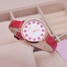Hoy con el 33% de descuento. Llévalo por solo $29,100.Escala Flor KEZZI reloj de cuarzo Mujer con la venda de la PU.