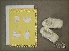 Laser Cut Baby Card from Alexis Mattox Design