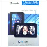 """Polaroid Black 7"""" PMID720 Dual-Core CPU TABLET Android 4.1 Jelly Bean free shipping"""