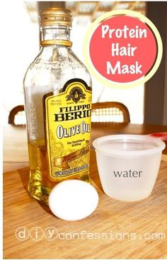Protein Hair Mask | 21 Healthy Hair DIY Treatments For Summer-Starved Hair