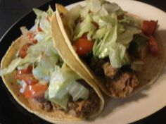 LENTIL TACOS.  If I'm going to try lentils for the first time, they might as well be disguised as tacos...