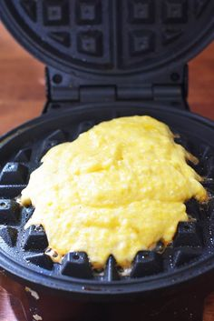 Jiffy Cornbread Waffles -- so EASY and loved by families everywhere! Jiffy Cornbread Mix, Cornbread Waffles, Cornbread Casserole, What's For Breakfast, Breakfast Dishes, Breakfast Recipes, Waffle Maker Recipes, Jiffy Mix Recipes, Foods With Iron