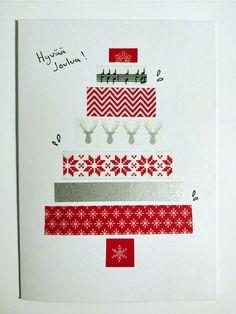 Washi tape christmas card / Washi teippi joulukortti kuusi Washi Tape, Christmas Cards, Christmas E Cards, Xmas Cards, Christmas Letters, Merry Christmas Card, Christmas Card Sayings