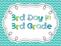 3rd Day in 3rd Grade  Have some fun with students with these task cards!  It's a great way to enjoy the third day of third grade!         $3