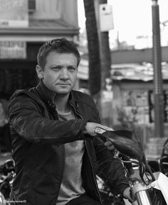 Jeremy Renner - Bourne Legacy he's not what i'd normally think of as an action hero, but think he's great in this film!