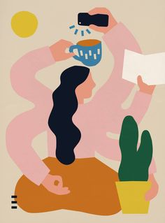 Colorful & Naive Illustrations by Anna Kövecses – Fubiz Media