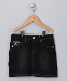 #Zulily #Fall Dark Wash Denim Skirt - Girls | Daily deals for moms, babies and kids